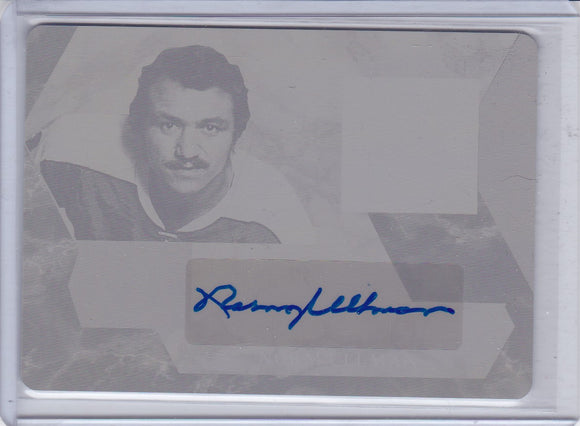 Norm Ullman 2017 In The Game Used Autograph Printing Plate 1/1