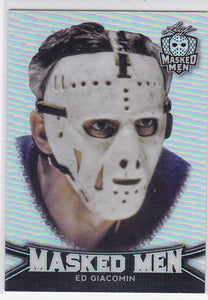 Ed Giacomin 2017-18 Leaf Masked Men Base Metal / Mask card #8