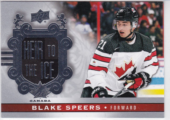Blake Speers 2017-18 UD Canadian Tire Team Canada Heir To The Ice card 157