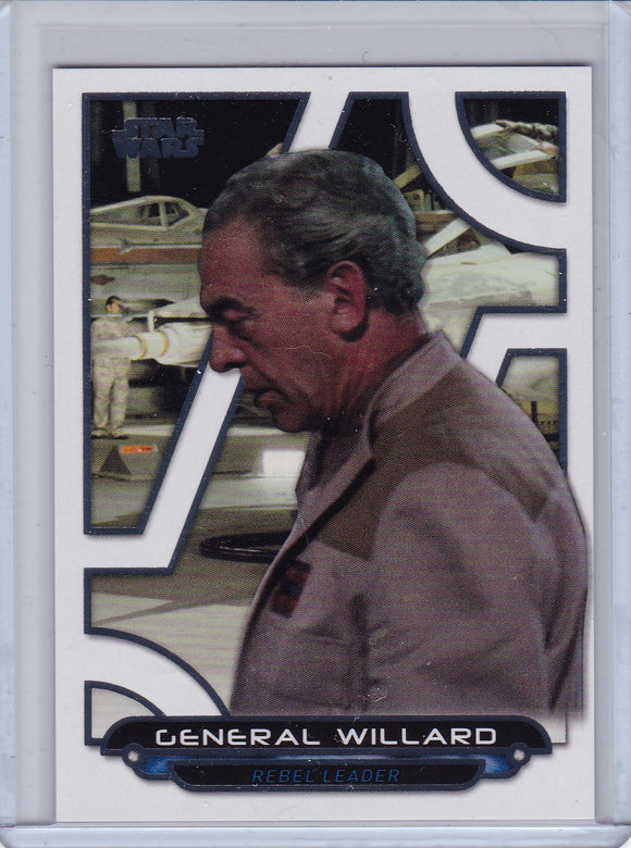 Star Wars Galactic Files 2018 card ANH-34 General Willard White #d 4/5