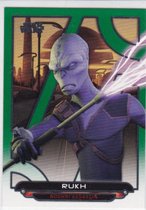 Star Wars Galactic Files 2018 card REB-41 Rukh Green #d 038/199