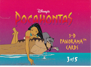 1994 Skybox Disney's Pocahontas 3-D Panorama card #3 of 5