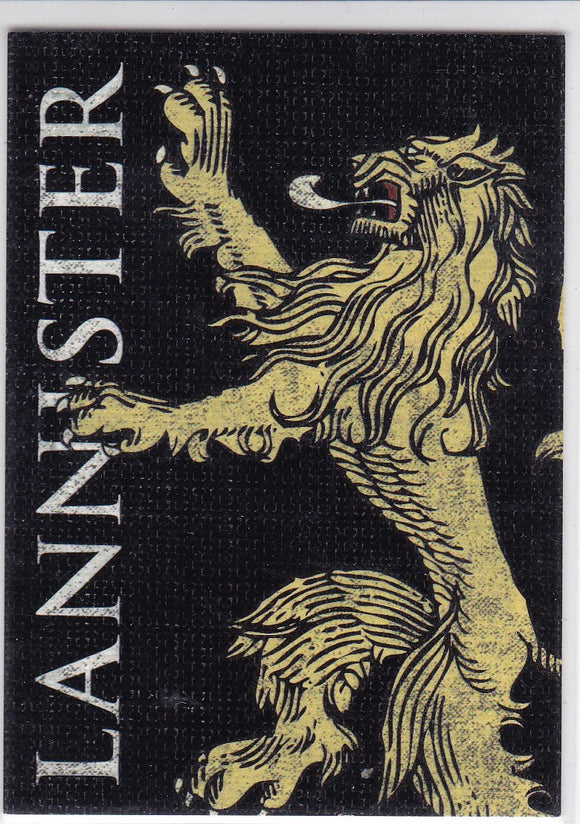 Game Of Thrones Season 2 Family Sigil Insert Card # H3 House Lannister