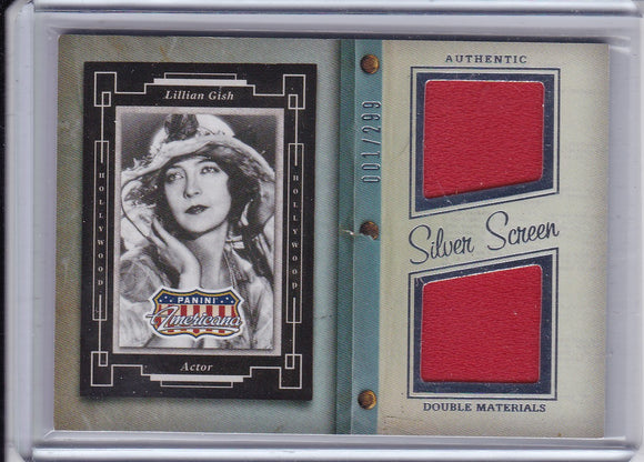 Lillian Gish 2015 Americana Silver Screen Material card SD-LG #d 001/299
