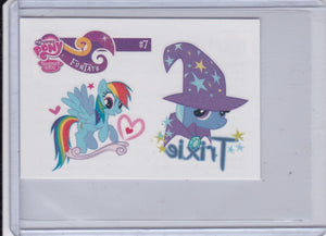 2013 Enterplay My Little Pony Series 2 Friendship Is Magic FunTats #7 Trixie