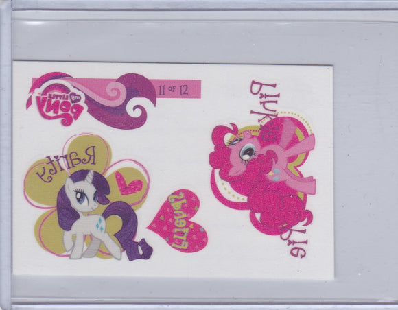 2012 Enterplay My Little Pony Friendship Is Magic FunTats #11 of 12 Pinkie Pie Rarity