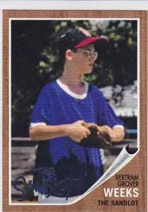 2018 Topps Archives Baseball The Sandlot card SL-BW Bertram Grover Weeks