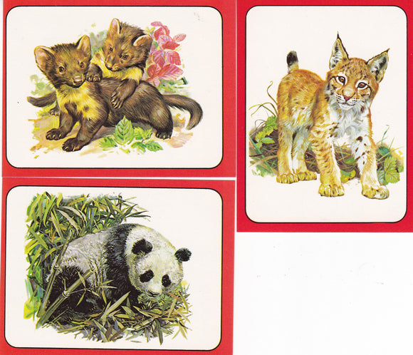 1975 Panini Baby Zoo Stickers Choose Your numbers from the list