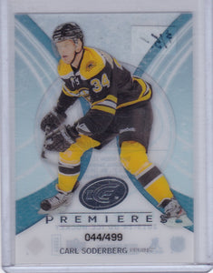 Carl Soderberg 2013-14 Ice Premieres Rookie card #73 #d 044/499
