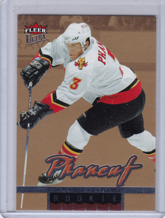 Dion Phaneuf 2005-06 Fleer Ultra Rookie card #261 Gold Parallel