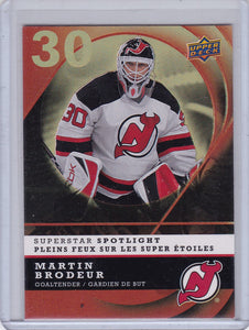Martin Brodeur 2008-09 UD Mcdonalds Superstar Spotlight card IS14
