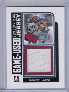 Patrick Roy 2013-14 ITG Decades 1990s Game-Used Jersey card M-30