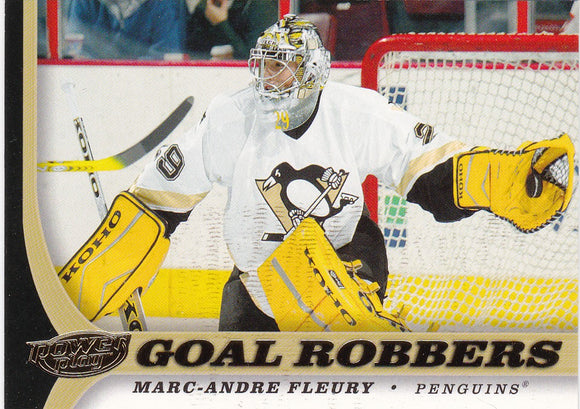 Marc-Andre Fleury 2005-06 Power Play Goal Robbers card #130