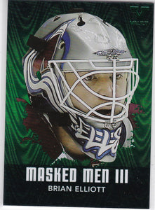 Brian Elliott Final Vault 2010-11 Between The Pipes Masked Men 3 card MM-07