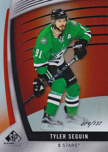 Tyler Seguin 2017-18 SP Game Used card #3 Orange Rainbow #d 079/137