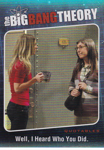 The Big Bang Theory Season 5 Quotables Insert card QTB-07