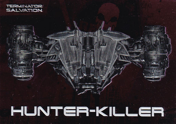 Terminator Salvation Embossed Foil Insert card 6 of 9 Hunter-Killer
