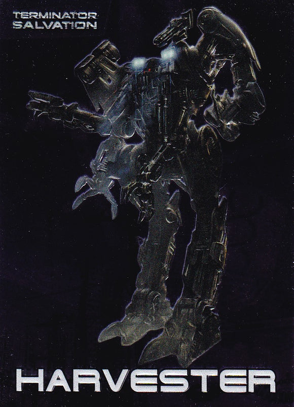 Terminator Salvation Embossed Foil Insert card 8 of 9 Harvester