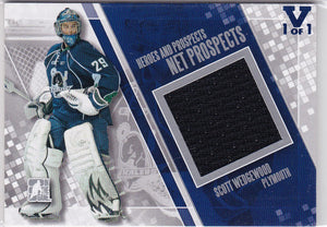 Scott Wedgewood 15-16 Final Vault 2011-12 Heroes and Prospects Net Jersey NP-06 V 1 of 1