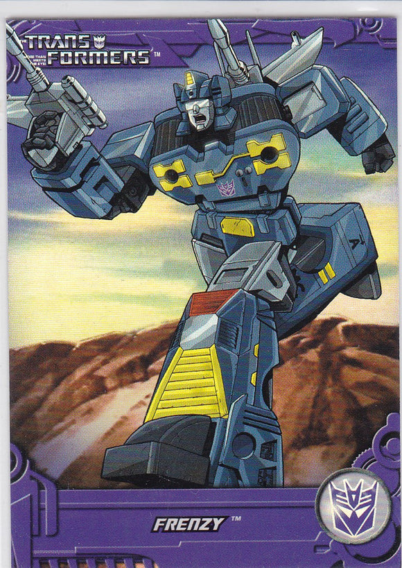 2013 Breygent Transformers Optimum Generation 1 Foil card TF13 Frenzy