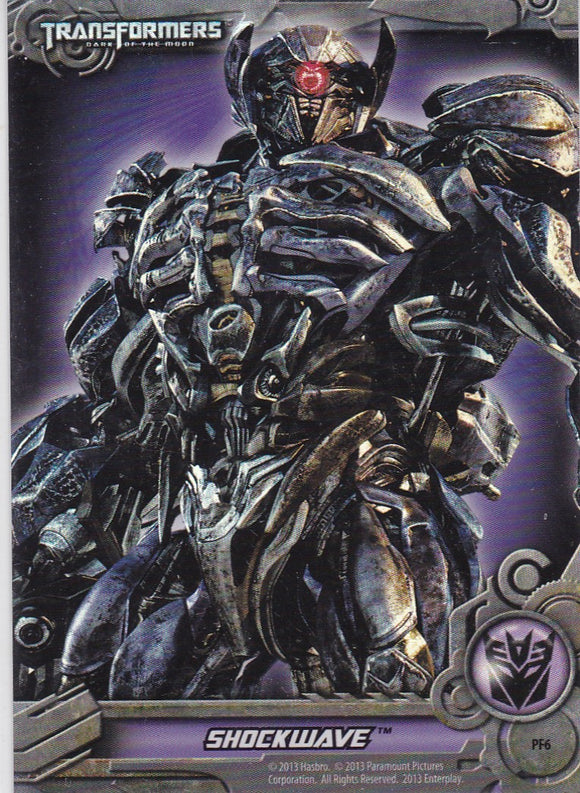 2013 Breygent / Enterplay Transformers Foil Puzzle card PF6 Shockwave