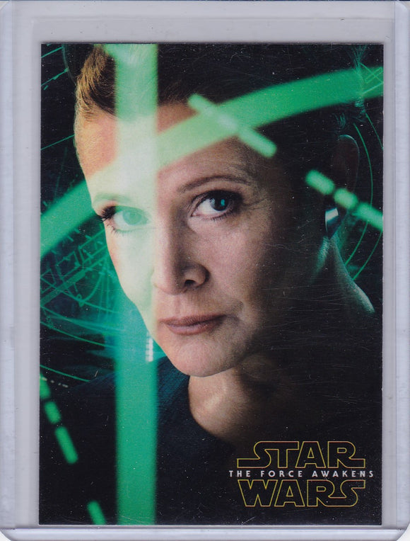 Star Wars The Force Awakens Series 2 Character Poster card 4 of 5 Leia Organa
