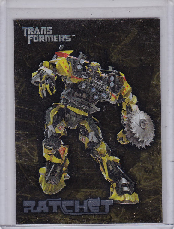 2007 Topps Transformers Movie Embossed Foil Insert card 9 of 10 Ratchet