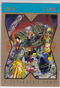 1992 Marvel X-Cutioner's Song Stryfe's Strike File Promo Card Cable