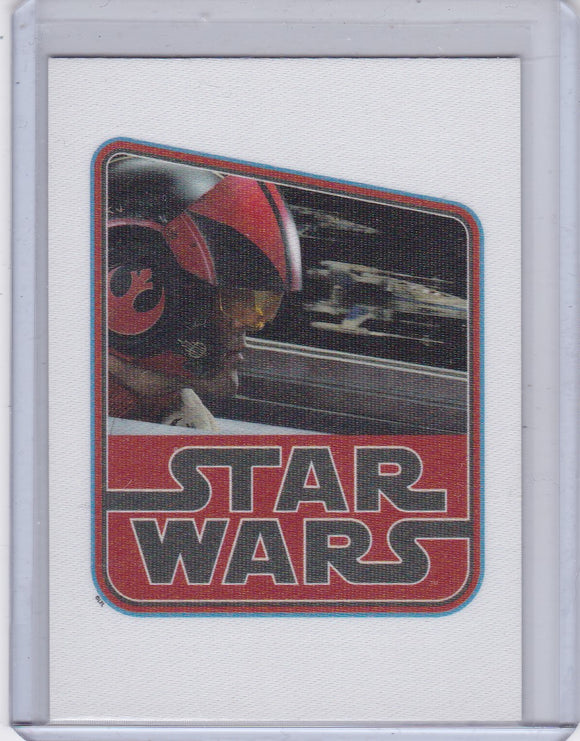 Star Wars Journey To The Force Awakens Cloth Sticker card CS-3 of 9