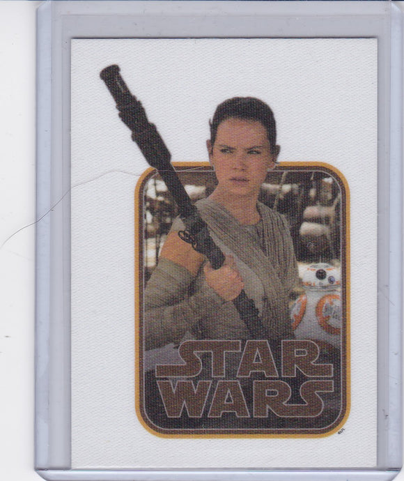Star Wars Journey To The Force Awakens Cloth Sticker card CS-2 of 9 Rey