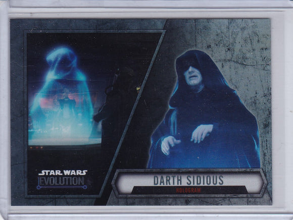 2016 Star Wars Evolution Short Print card SP-7 Darth Sidious