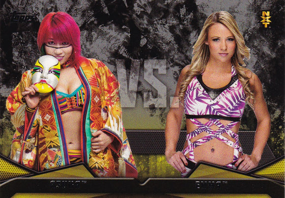 2016 Topps WWE Then Now Forever NXT Rivalries card #7 Asuka Vs Emma