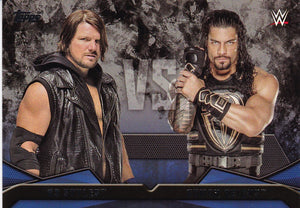 2016 Topps WWE Then Now Forever WWE Rivalries card #5 AJ Styles Vs Roman Reigns