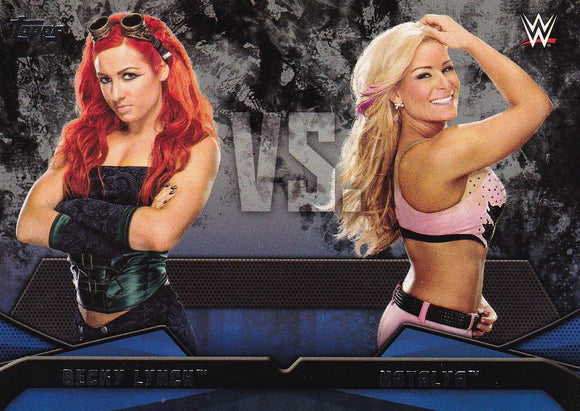2016 Topps WWE Then Now Forever WWE Rivalries card #14 Becky Lynch Vs Natalya