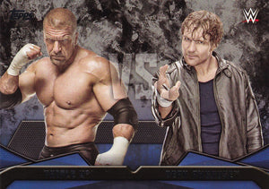 2016 Topps WWE Then Now Forever WWE Rivalries card #12 Triple H Vs Dean Ambrose