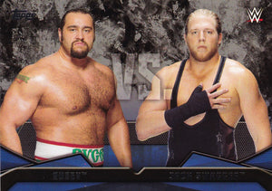 2016 Topps WWE Then Now Forever WWE Rivalries card #18 Rusev Vs Jack Swagger