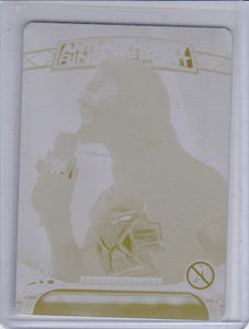 Seth Rollins 2016 Topps WWE Yellow Printing Plate 1 of 1 for Perspectives card 3AA