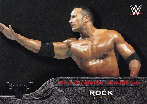 The Rock 2016 Topps WWE The Rock Tribute card #15 of 40