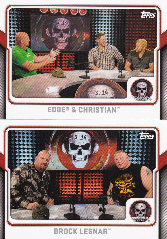 2017 Topps WWE Stone Cold Podcast cards Choose your numbers