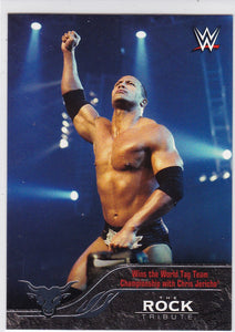 The Rock 2016 Topps WWE The Rock Tribute card #21 of 40