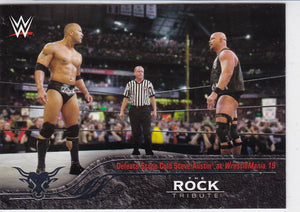 The Rock 2016 Topps WWE The Rock Tribute card #25 of 40