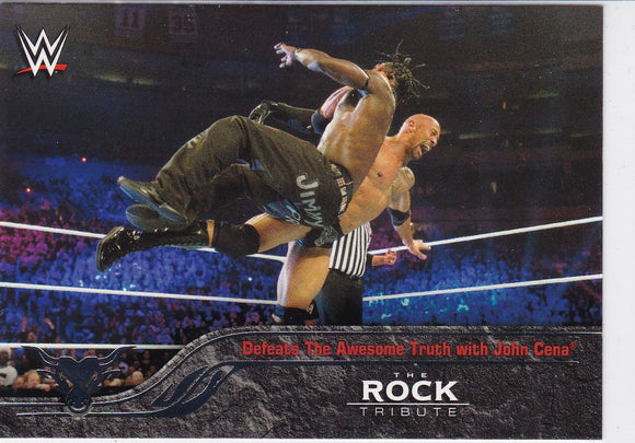 The Rock 2016 Topps WWE The Rock Tribute card #29 of 40