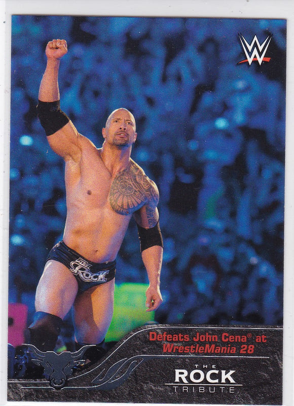 The Rock 2016 Topps WWE The Rock Tribute card #30 of 40