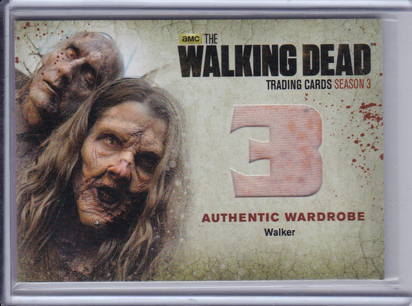 Walking Dead Season 3 Authentic Walker Wardrobe card W12