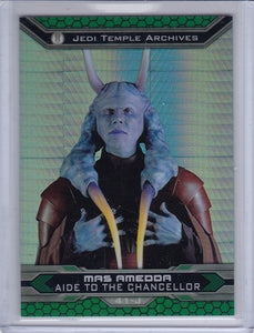 Star Wars Chrome Jedi Vs Sith card 41-J Mas Amedda Prism Refractor #d 169/199
