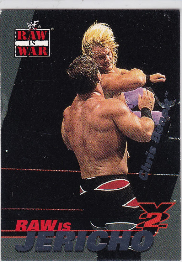 2001 Fleer WWF Raw Is War Raw Is Jericho card 3 of 15 RJ Chris Jericho on Chris Benoit
