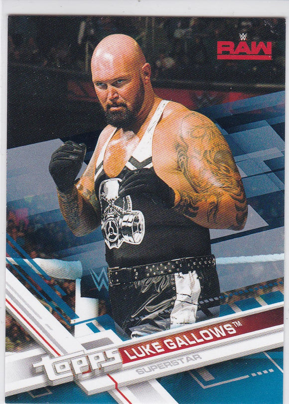 2017 Topps WWE Luke Gallows card #23 Blue #d 13/99
