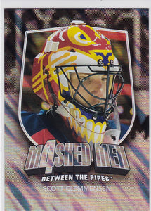 Scott Clemmensen 2011-12 Between The Pipes Masked Men 4 card MM-12 Silver