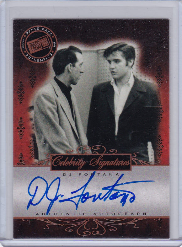 2008 Press Pass Elvis By The Numbers Celebrity Signatures D.J. Fontana Autograph card CS-DF