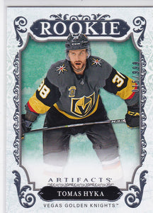 Tomas Hyka 2018-19 Artifacts Hockey Rookie card #165 #d 015/999